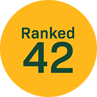 Ranked 42 by US News and World Report